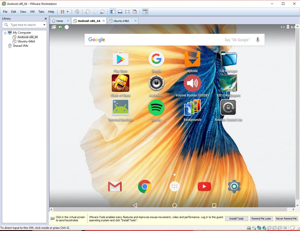 YouTube – AndEX|Android-x86 Custom